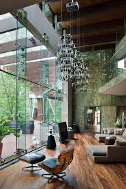 interior stunning modern indoor small garden with glass wall