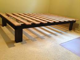 Bed Frame Simple Cheap Easy Low Waste Platform Bed Plans Platform Beds