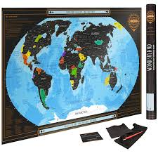 Scratch Off Map 50 Off Scratch Off World Map Black Poster With Us States Complete