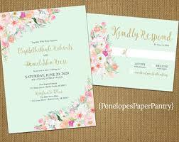 mint peach wedding etsy