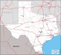Map Of Austin Texas by Geographical Map Of Texas And Texas Geographical Maps Peterbilt