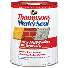 thompson u0027s waterseal 5 gal clear multi surface waterproofer