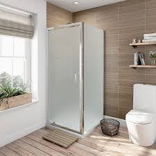 800 Pivot Shower Door by 6mm Pivot Frosted Glass Shower Enclosure 800 X 760