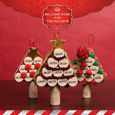 happy holidiys cork tree ornaments sutter home family vineyards
