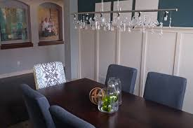 Crystal Light Fixtures Dining Room - diy linear crystal chandelier