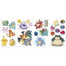 pokemon iconic peel and stick wall decals toys