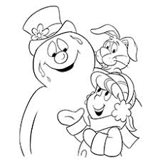 pictures frosty colouring pages free printable coloring pages