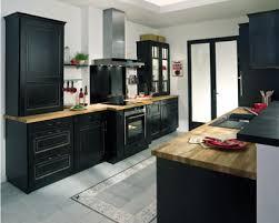 meuble de cuisine noir beau meuble salle de bain bois exotique 18 d233co cuisine noir