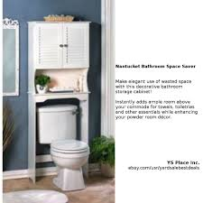 Bathroom Space Saver by Bathroom Storage Cabinet White Wood Space Saver Over The Toilet