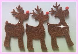 felt reindeer christmas felt shapes rudolph red nose decoration