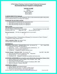Sample Recent Graduate Resume Students Resume Summary Examples For College Financial Planner
