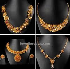 gold flower necklace designs images 4 josco light weight floral necklace set designs latest jpg