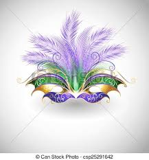 green mardi gras mask mardi gras mask bright mask with purple and green feathers