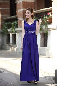 royal blue formal cocktail bead prom party evening maxi dress