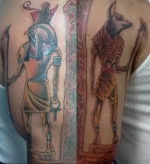 30 egyptian anubis sleeve tattoos