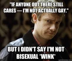 Bi Sexual Memes - defensively heterosexual john watson memes quickmeme