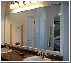 Bathroom Mirrors Framed by 170 Best Mirror Upgrade Images On Pinterest Mirrors