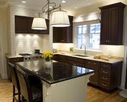 dark cabinets white backsplash houzz kitchen with ideas for drk