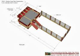 Chicken Coop Floor Plan Home Garden Plans M103 Chicken Coop Plans Construction