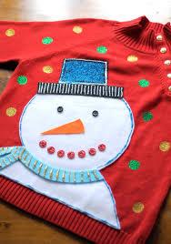 diy ugly christmas sweater ugliest christmas sweaters puffy