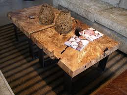 Slab Wood Table by Character Slab Coffee Tables With Blackcomb Base For More