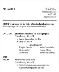 Business Resume Sample by 50 Business Resume Examples Free U0026 Premium Templates
