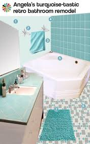 turquoise tile bathroom 3 ideas for angela s aqua bathroom design retro renovation