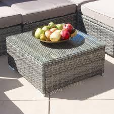 Gray Patio Furniture Sets - amazon com belleze 6 piece outdoor rattan wicker sofa lounge