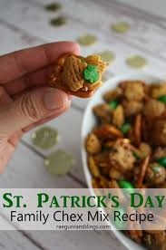st patrick u0027s day family chex mix over the big moon