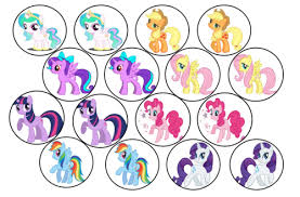 my pony cupcake toppers cake decorating my pony edible picture cupcake toppers