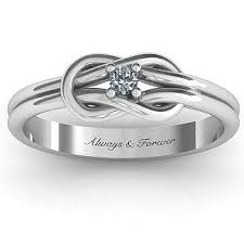 knot promise ring knot ring with white swarovski zirconia knot rings