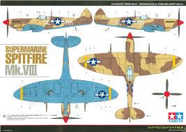 supermarine spitfire mk viii usaaf desert camouflage color profile