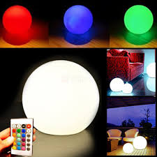 floating led pool lights 20cm orb shaped floating led swimming pool light with remote control