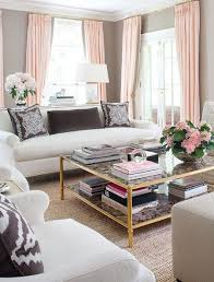 Navy And Pink Curtains Pink Curtains Gray Walls White Furniture With Navy Accents A