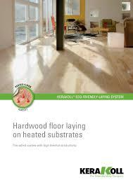 kerakoll hardwood floor laying