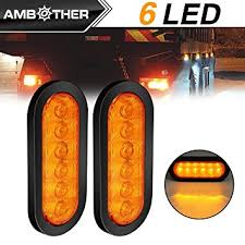 2 led trailer lights amazon com ambother 2x 6 led trailer lights oval lights tow