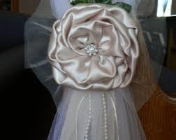wedding bows navy blue pew bows chair bows white wedding church aisle