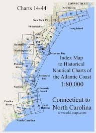 Nc Coast Map Old Nautical Charts Eastern Shoreline