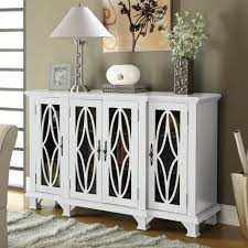 Large Cabinet Doors by Coaster Furniture 950265 Large Cabinet With 4 Glass Doors In White