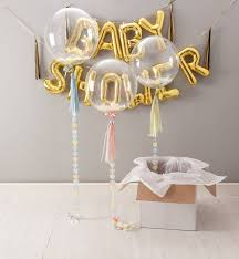 baby shower balloons personalised gold baby shower confetti balloon confetti