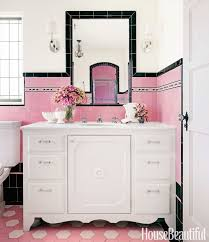 Girly Bathroom Ideas Pink Ceiling Black White Tile Bathroom New Pinky Girly Bathroom