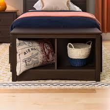 Storage Cubbie Bench Amazon Com Espresso Twin Cubbie Bench Kitchen U0026 Dining