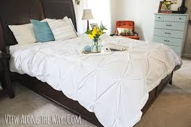 Her Side His Side Comforter Tutorial How To Make A Diy Pintuck Duvet Cover