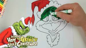 how the grinch stole christmas coloring page youtube