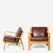 hans wegner pair of hans wegner ge 671 lounge chairs
