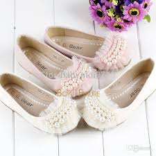 wholesale princess girls baby toddler pearl beads girls shoes lace