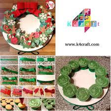 cupcake wreath tutorial food decoration pinterest cupcake