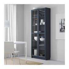 Ikea Bookcase With Glass Doors Billy Bookcase With Glass Doors Blue Ikea Within Prepare 1