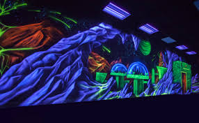 black light murals wall murals you ll love artist creates hidden bedroom murals using glowing uv paints