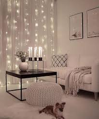 Christmas Lights Behind Sheer Curtain Best 25 White Lights Bedroom Ideas On Pinterest Christmas